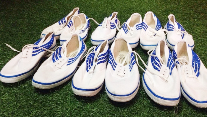 Nhiều vận động viên chuyên nghiệp cũng sử dụng giầy bata trên sân tập phong trào.